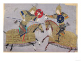Two Warriors on Horseback in Combat  School of Tabriz  circa 1480