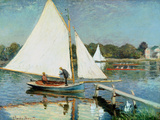 Sailing at Argenteuil  C1874 (Oil on Canvas)