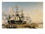 King Louis-Philippe (1830-48) Disembarking at Portsmouth  8th October 1844  1846