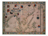 The Far East  from a Portolan Atlas  by Fernao Vaz Dourado  1570