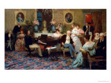 Chopin Playing the Piano in Prince Radziwill's Salon  1887