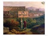 Johann Wolfgang Von Goethe (1749-1832) Visiting the Colosseum in Rome  circa 1790