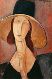 Portrait of a Woman (Jeanne Hébuterne) in Large Hat  c1918