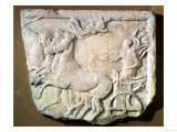 Votive Relief Commemorating a Victory in the Four Horse Chariot Race at the Panathenaic Games