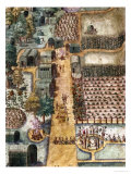 The Indian Village of Secoton  Book Illustration  circa 1570-80