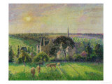 The Church and Farm of Eragny  1895