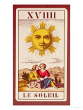 Xviiii Le Soleil  French Tarot Card of the Sun  19th Century