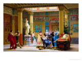 A Performance of &quot;The Fluteplayer&quot; in the &quot;Roman&quot; House of Prince Napoleon III (1808-73)