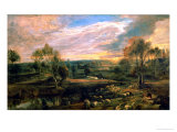 A Landscape with a Shepherd and His Flock  circa 1638