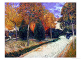 Path in the Park at Arles  c1888