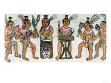 Aztec Musicians from an Account of Aztec Crafts in Central Mexico