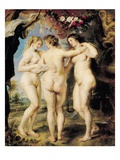 The Three Graces  C1636-39 (Oil on Canvas)