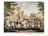 The British Surrendering to General Washington (1732-99) after Their Defeat at Yorktown  Virginia