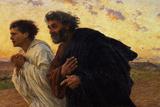 Les disciples Pierre et Jean courant au Sépulcre le matin de la Résurrection, vers 1898 Giclée par Eugene Burnand