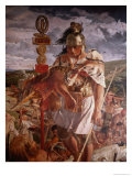 Roman Centurion During the Building of Hadrian's Wall Detail of Mural of the History of Northumbria