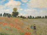 Les Coquelicots: environs D'Argenteuil, 1873 Giclée par Claude Monet