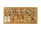 The Weighing of the Heart Against the Feather of Truth  circa 1250 BC (Painted Papyrus)