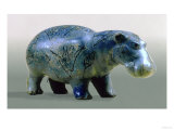 Statuette of a Hippopotamus  11th-12th Dynasty  circa 2000 BC (Glass)