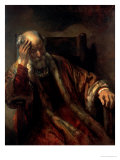 An Old Man in an Armchair  17th Century