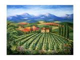 Tuscan Vineyard and Abbey