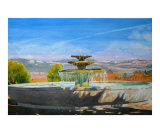 The Niebaum Coppola Fountain in Napa