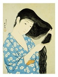 A Half-Length Portrait of a Beauty Combing Her Hair