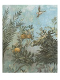 Detail Showing Scene from Roman Fresco of Tree with Birds