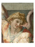 Detail of Figure from a Fresco Painting Depicting the Archangel Michael by School of Raphael