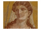 Detail of Ancient Roman Fresco Painting with Female Figure