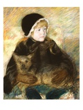 Elsie Cassatt Holding a Big Dog