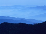 Fog Shrouding Blue Ridge Mountains