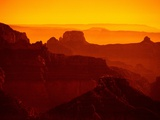 Grand Canyon and Orange Sky