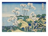 Fuji from Goten-yama  at Shinagawa on the Tokaido  from the Series Thirty-Six Views of Mt Fuji