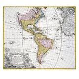 Map of the Americas by August Gottlieb Boehme