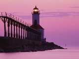 Michigan City Lighthouse at Sunset