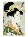 Portrait of the Courtesan Hanaogi of the Ogiya  Wearing an Over-Kimono