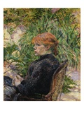 Red-Headed Woman Sitting in the Garden of Mr Forest