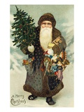 Postcard of Santa Claus with Toys