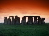 Red Sky over Stonehenge