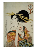 Portrait of a Courtesan Smoking Her Pipe