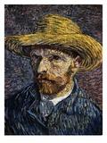 Autoportrait au chapeau de paille Giclée par Vincent Van Gogh