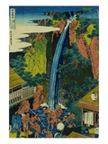 Roben Waterfall of Oyama in Sagami Province  from the Series A Journey to the Waterfalls of All the