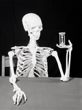 Skeleton Holding Hourglass