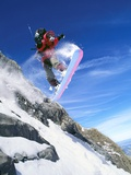 Snowboarder Performing Jump