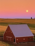 Sun Setting Behind Barn