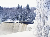 Tahquamenon Falls in Snow