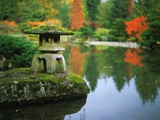 Stone Lantern in the Japanese Tea Garden at the University of Washington Arboretum