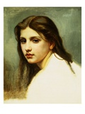 Study of a Girl&#39;s Head for Bathers