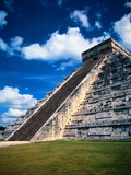Stairway of the Pyramid of Kukulkan  in Mexico