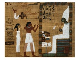The Dead Before Osiris  the Supreme Judge from Book of the Dead